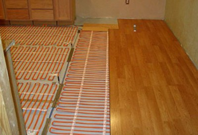 кабельный теплый пол под ламинат