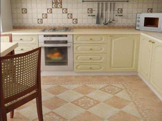 плитка для пола на кухню фото