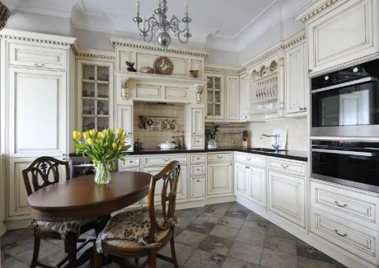 напольная плитка кухня фото