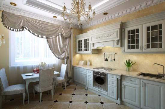 варианты укладки плитки на пол в кухне