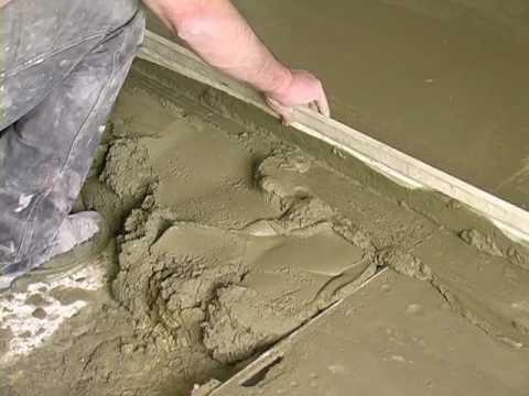 цементно песчаная стяжка пола